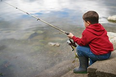 fishing - Explored (SkyeLight Imagery) Tags: boy red people lake fish cute nature sport children fishing child sweet sony