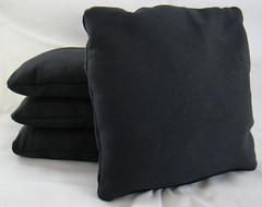 Black Cornhole Bags
