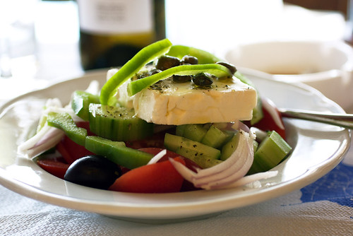 greek salad @ dimitris