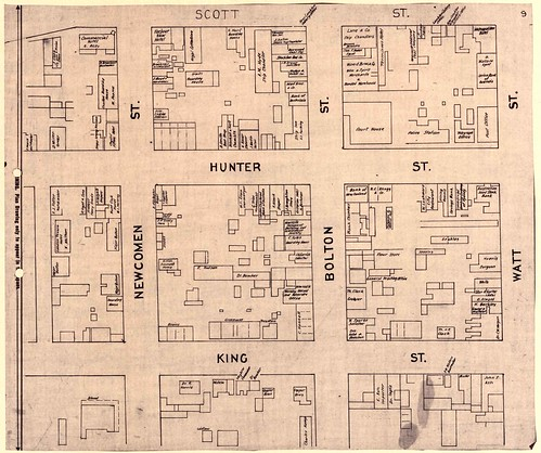 Mahlstedt and Gee plan - M2040 - Sheet 9 - Plan of Newcastle January 1886