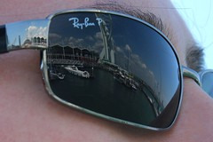 Reflections... (SteveRotherPhotography) Tags: sea reflection water sunglasses reflections boats boat seaside portsmouth spinnakertower spinnaker rayban