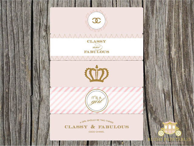 new in the shop coco chanel themed printables baby shower bridal