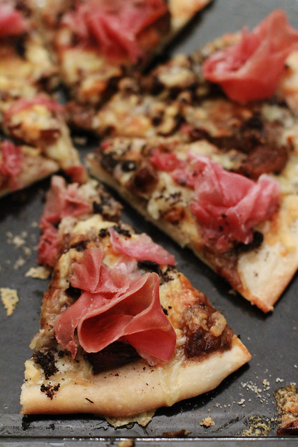 Truffle Paste, Mixed Mushrooms & Prosciutto Pizza