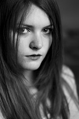 Catriona (.drew (Andrew Kelly)) Tags: 2 portrait bw white black monochrome canon eos scotland glasgow andrew 100mm kelly 5d zuiko f28 mk andrewkelly zuiko100mmf28 canon5dmk2