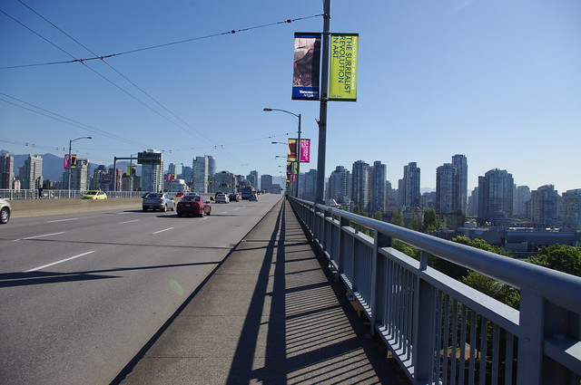 Walking to work over the Granville Street Bridge