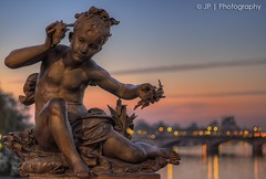Angel Of Alexandre (J.P | Photography) Tags: life bridge wallpaper sky paris france reflection seine angel sunrise 50mm nikon photographie angle ange iii ps reflect jp pont alexandre reflexion franais hdr parisian hdri lightroom pontalexandreiii parisien pontdelaconcorde photomatix leverdusoleil jpphotography d7000