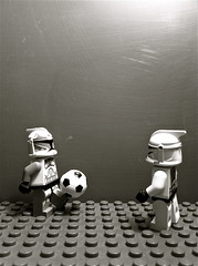 Wolffe and trooper playing football (anotherclone_inthewar) Tags: trooper football clone commander wolffe