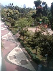 pemandangan Taman Menteng dari atas (daEsUke_cHan) Tags: background jakarta taman fotografi pemandangan fotofoto menteng penghijauan kumpulkumpul