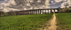 Ouse Valley Viaduct (Steve's Photography :-)) Tags: panorama field sussex corn nikon haywardsheath path pano railway panoramic viaduct d200 footpath hdr balcombe englishheritage ousevalley 1841 railwayheritagetrust steveclancy