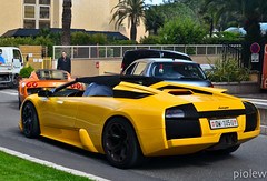 Lambo Murcielago Roadster & Noble M600 (piolew) Tags: orange yellow top monaco carlo monte marques lamborghini 2012 noble combo roadster murcielago m600
