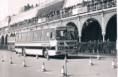 Driving Tests at the 1975 British Coach Rally (peterthebus) Tags: ferry kings the drivingtests
