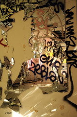 Reflet bris (B.RANZA) Tags: trace histoire waste sanatorium hopital empreinte exil cmc patrimoine urbex disparition abandonedplace mmoire friche centremdicochirurgical