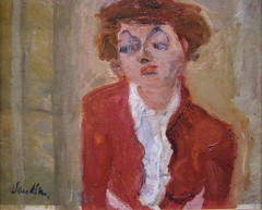 Chaim Soutine, Young Englishwoman, c 1934 (DeBeer) Tags: portrait paris art girl painting 1930s modernart portraiture expressionism 20thcentury youngwoman 1934 arthistory orangerie femaleportrait early20thcentury modernpainting soutine chaimsoutine 20thcenturyart portraitofayoungwoman portraitofagirl englishwoman muséedel´orangerie 20thcenturypainting parisschool figuralpainting