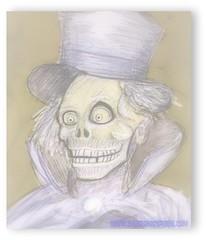 The Hatbox Ghost (Sir Nadroj) Tags: world hat box disneyland ghost disney haunted attic mansion walt wacom hatbox cintiq