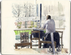 Peter's Yard (Wil Freeborn) Tags: moleskine coffee yard cafe edinburgh journal peters