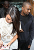 Kim Kardashian and Kanye West at the BBC Radio 1 studios London, England