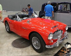1966 Austin Healey 3000 MkIII BJ8 (Bill Jacomet) Tags: red 3 austin texas expo mark iii center f1 1966 66 convention formula 3000 mk healey 2012 mkiii mk3 bj8