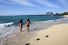 DSC_6933ps (sunnaquair) Tags: ocean park girls beach lava sand rocks pacific shore bigisland emerald kona gentle