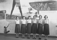11; Six unidentified women, Centennial Exhibition - Circa 1940 (Wellington City Council) Tags: wellington historicwellington 1800s 1900s 1950s