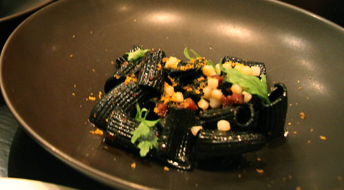 Benu - San Francisco, squid ink pasta