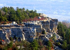 Gertrude's Nose as seen from Castle Point, Minnewaska State Park (Katy Silberger) Tags: cliffs shawangunks latefall newpaltzny minnewaskastatepark midhudsonvalley nikond60 shawangunkridge gertudesnose the4elements abigfave anawesomeshot