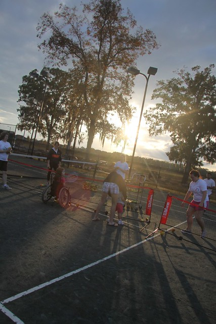 sunset on the court