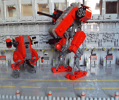 Photo Session at hangar (AlterEvo) Tags: red army lego space armada future evo roja moc