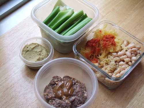 Fava dip lunch