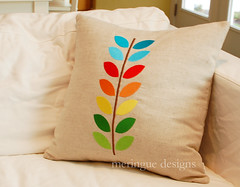 supa large technicolor vine pillow