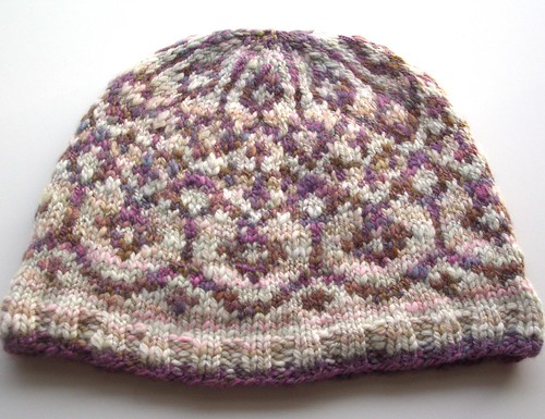 Reflection hat by Melissa Leapman made with my handspun yarn