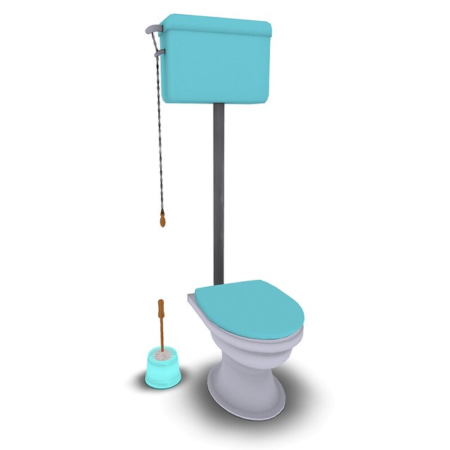 Vintage Toilet with Menu BLUE***(group gift!!)