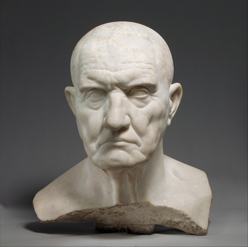 Marble bust of a man-Julio Claudian Period