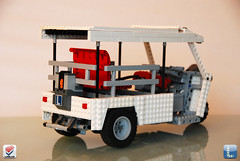 Tuk Tuk / Rickshaw - 3/4 (LegOscar) Tags: legoscar oscar verbeek tuk riksja rikshaw indonesia thailand china vietnam remote controlled car motorbike extreme driving technic moc acc allround competition rc infra red power functions town play toy lowlug low lug brick build snot white cool lego