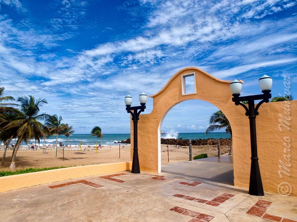 Arco en la Playa