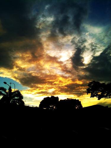 yellowish sky