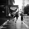 Beantown Pub (Airicsson) Tags: street new york city nyc summer portrait urban blackandwhite bw usa white ny black boston lumix us panasonic 2010 streetshot lx3