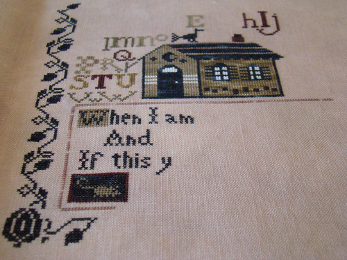 Progress on Jean Bean's Halloween Sampler