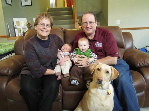 Grandparents and Grandsons, and Granddog