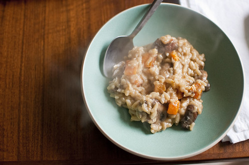 butternut squash and mushroom risotto