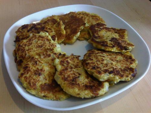 Taro fish cakes