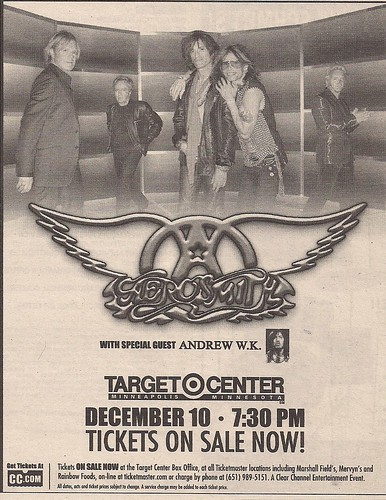 12/10/02 Aerosmith/Andrew W.K. @ Minneapolis, MN (Ad2)