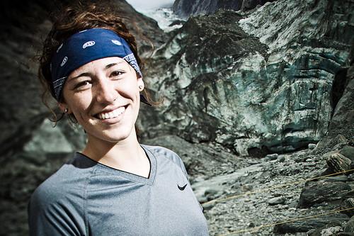 Elise Soniat on Franz Josef Glacier