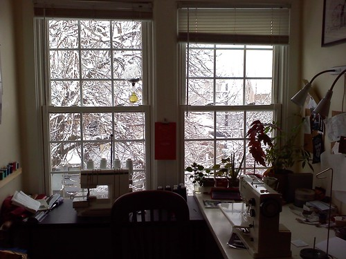 Winter view from my studio!