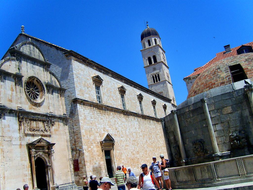 251 Walkin'Streets of Dubrovnik- Onofrio's Fountain (1438) & St. Saviour's Church (1520-1528) & Franciscan Monastery (1337)
