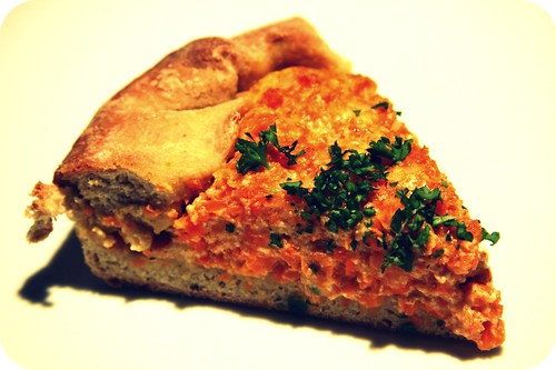 carrot pie slice