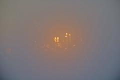 Sunset in a foggy San Francisco (lindyannajones) Tags: sanfrancisco fog ethereal