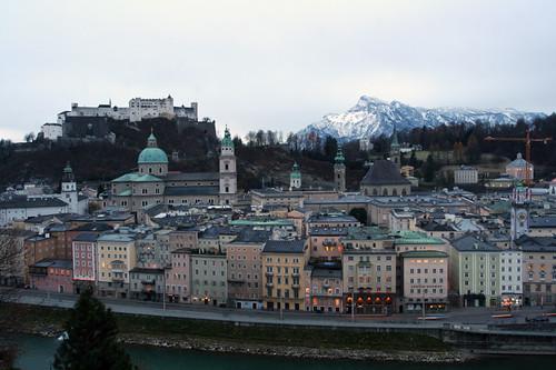old town Salzburg @ sunrise