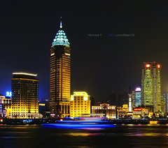 Shanghai | The Bund, Guang-ming Building (nickkpoon) Tags: china from city panorama building skyline night skyscraper river lights other closed cityscape close shanghai sony side promenade   pudong  bund dsc dong pu viewed xi thebund huangpu the puxi  h10   guangming photosandcalendar shanghaithebund thebundshanghai  dsch10 panoramafotogrfico theoriginalgoldseal mygearandmepremium mygearandmebronze mygearandmesilver mygearandmegold flickrsportal