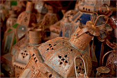 Rusty metal lanterns (Clive1945) Tags: africa lamp metal rust steel morocco maroc marrakesh afrique d5000