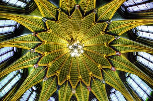 Crown chamber ceiling.Budapest. Techo de la sala de la corona